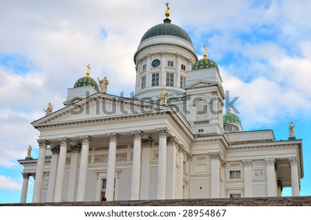 Helsinki Lutheran Cathedral at early morning