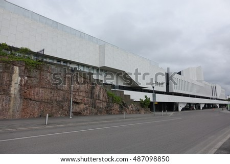 HELSINKI - 28 MAY: Finlandia Hall in Helsinki, Finland on 28 May 2016