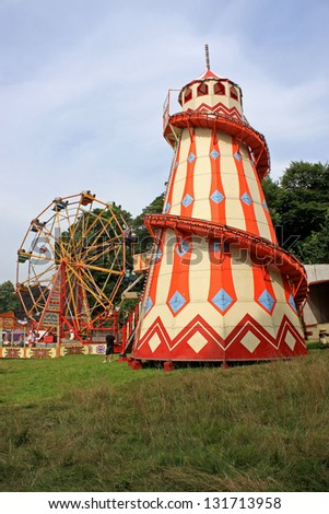 Helter Skelter and Big Wheel - stock photo