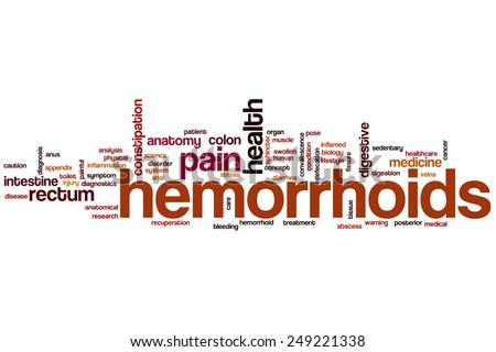 Hemorrhoids word cloud concept - stock photo