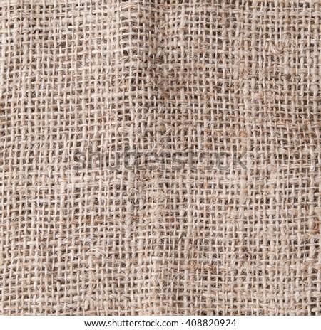 Hemp fabric texture background - stock photo