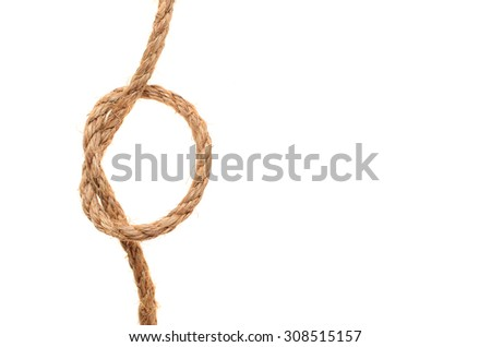 hemp rope isolated on a white background