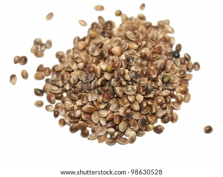 Hempseed isolated on white