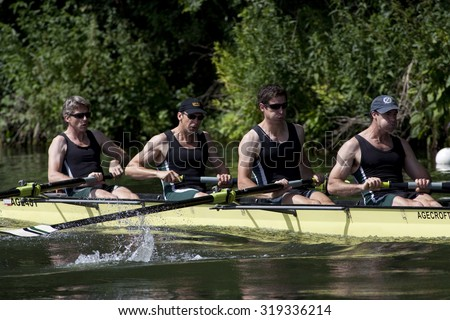 HENLEY, ENGLAND. 03-07-2010.  Power House R.C., AUS in action on day 4 of the Henley Royal Regatta 2010 held on the River Thames.   - stock photo