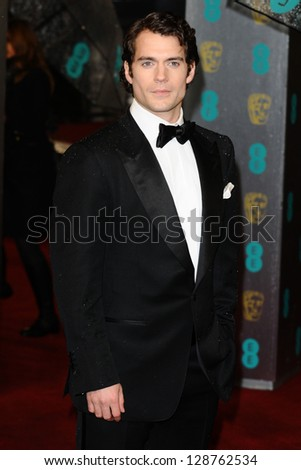 Henry Cavill arriving for the EE BAFTA Film Awards 2013 at the Royal Opera House, Covent Garden, London. 10/02/2013 Picture by: Steve Vas - stock photo