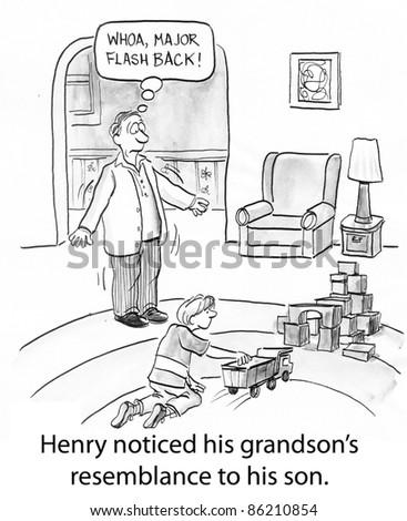 Henry noticed his grandson's resemblance to his son.