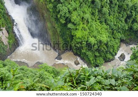Heo Narok Waterfall, Khao Yai national park. Nakhon Na Yok a Province, Northeast of Thailand. - stock photo