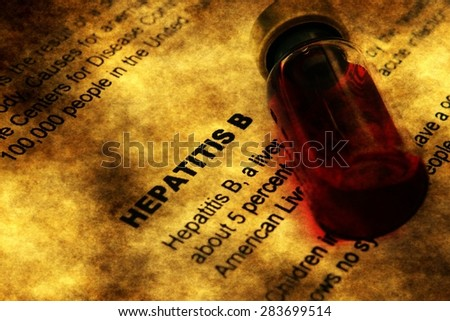 Hepatitis and vial concept - stock photo