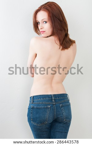 Her favorite jeans - stock photo