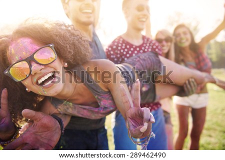 Her soul is full of colour - stock photo