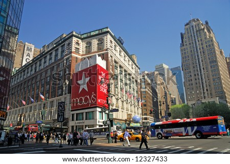 Herald Square, Midtown Manhattan - stock photo