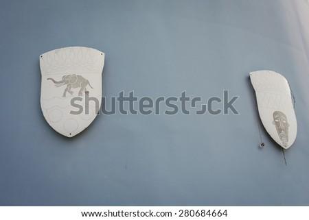heraldic shields - stock photo