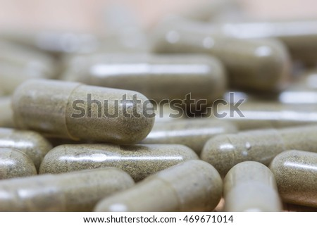 Herb medicine for health isolated,selective focus