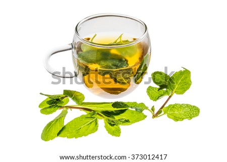 herb tea which becomes beautiful