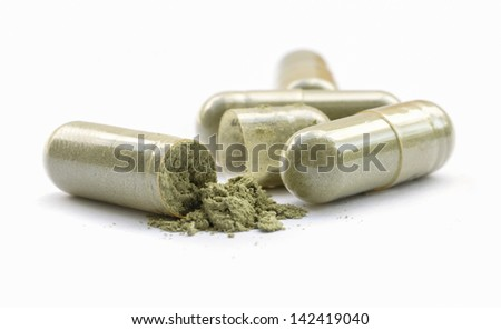 Herbal drug an alternative medicine. - stock photo