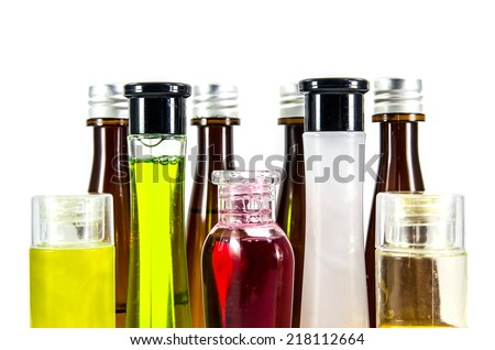 Herbal essences bottles - stock photo