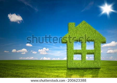 Herbal house  - stock photo