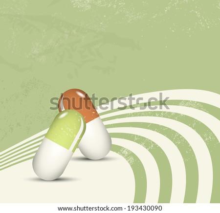 Herbal medicine - medical natural healthcare concept - pharmaceutical - stock photo