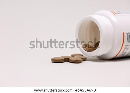 Herbal Tablets made from real herbals used in Ayurveda Treatment or Herbal Treatment