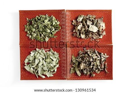 Herbal tea, herbal medicine - stock photo
