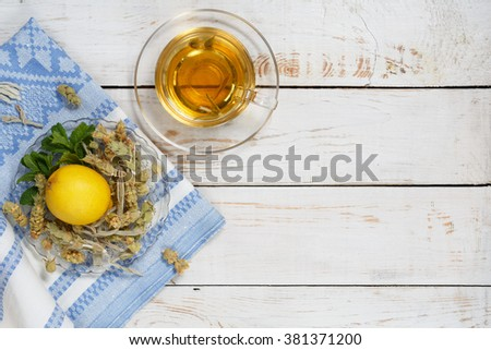 Herbal tea,mountain tea with different ingredients, mountain tea