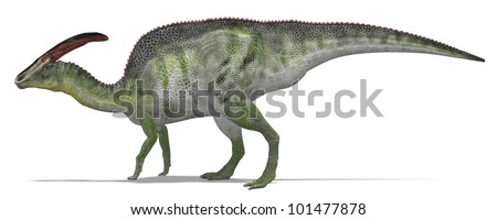 Herbivorous dinosaur from side - stock photo