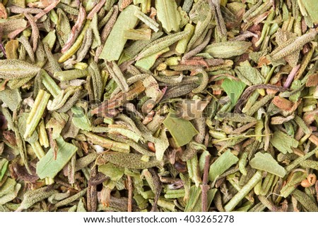 Herbs de Provence as Mediterranean Cooking Ingredient and Flavor - stock photo