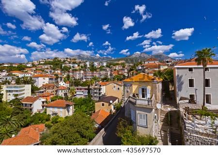 Herceg Novi - Montenegro - nature and architecture background - stock photo