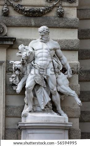 Hercules and Cerberus, Hofburg, Vienna - stock photo
