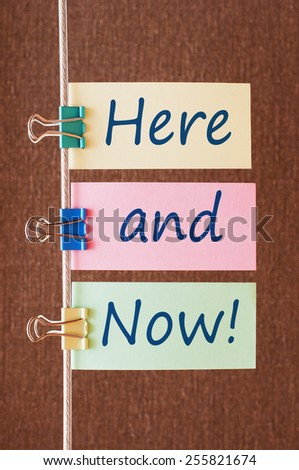 Here And Now Concept - stock photo