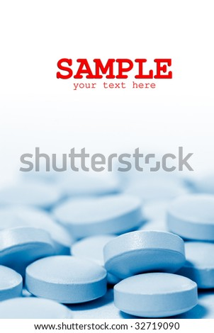 Here are a lot of pill on the ground. - stock photo