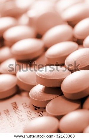 Here are a lot of pill on the paper.