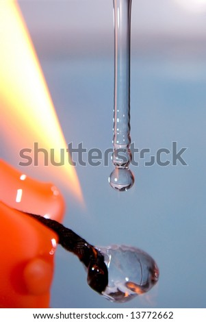 Here are  pure drops of water,  rest is a play with background and light.