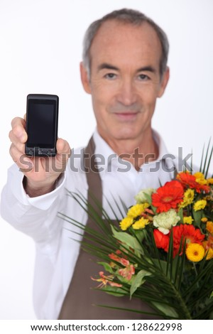 Here it's for you - stock photo