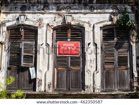 Heritage House Windows, George Town, Penang, Malaysia