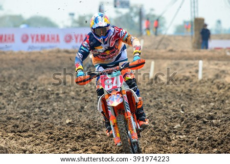 Herling Jeffrey #84 of Red bull KTM Factory Racing competes during the FIM Motocross World Championship Grand Prix of Thailand on March 6, 2016 in Suphanburi, Thailand.