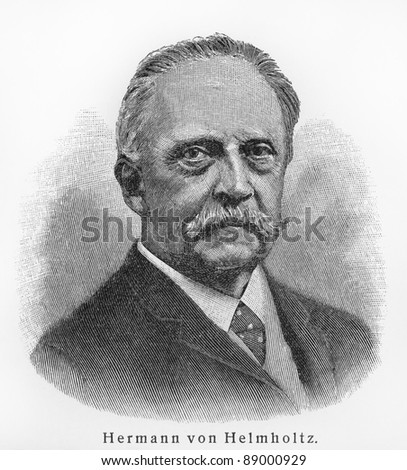 Hermann von Helmholtz - Picture from Meyers Lexicon books written in German language. Collection of 21 volumes published  between 1905 and 1909.