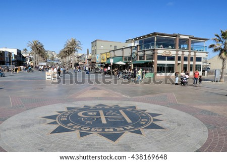 Hermosa Beach, Los Angels, USA-May 21: Symbol Mark for Hermosa Beach, May 21, 2016 - stock photo