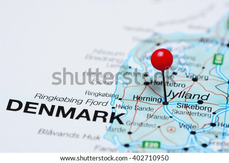 Herning Pinned On Map Denmark Stock Photo 402710950 Shutterstock