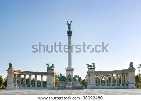 Hero's Square Budapest. A square dedicated to the Hungarian Kings.