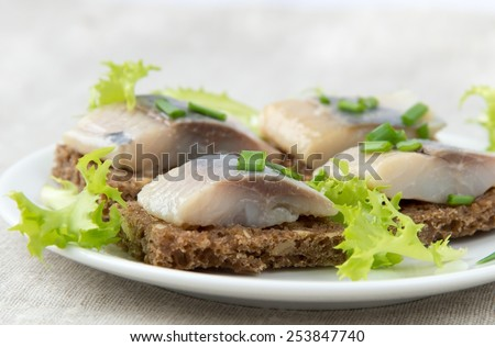 Herring sandwich  - stock photo