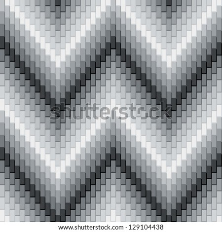 Herringbone Pattern in Grey has dimensional detail.