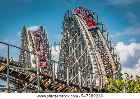 Wooden Roller Coaster Stock Images Royalty Free Images