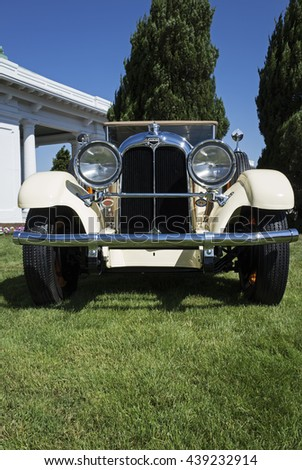 HERSHEY, PA, USA-JUNE 12, 2016:  1928 Auburn 8-115 Phaeton Sedan on display at The Elegance at Hershey.  1928 was the initial year of the Phaeton sedan which cost $2295 when new.