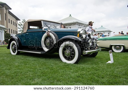 HERSHEY, PA, USA-JUNE 14, 2015:  1931 Buick 8-96C Convertible Coupe on display at The Elegance at Hershey.  Just 1,006 of these cars were built with only eight surviving.