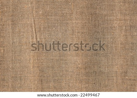 Hessian cloth for background