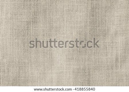 Hessian sackcloth woven texture pattern background light cream sepia tan brown color tone: Eco friendly raw organic flax cloth fabric textile backdrop: Bag rope thread detailed textured burlap canvas - stock photo