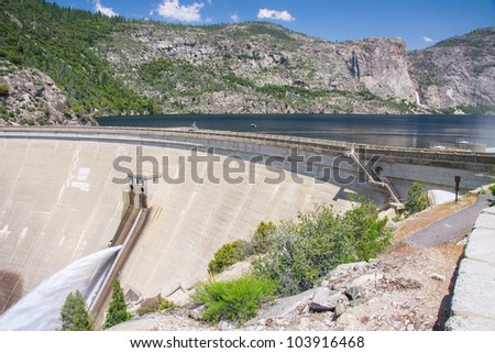 Hetch Hetchy Dam In Yosemite National Park