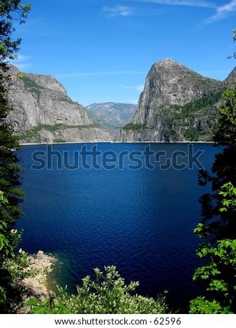 Hetch Hetchy in Yosemite National Park - stock photo