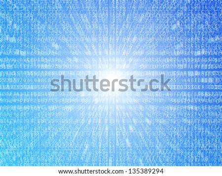 Hexadecimal data numbers and letters illustration background - stock photo